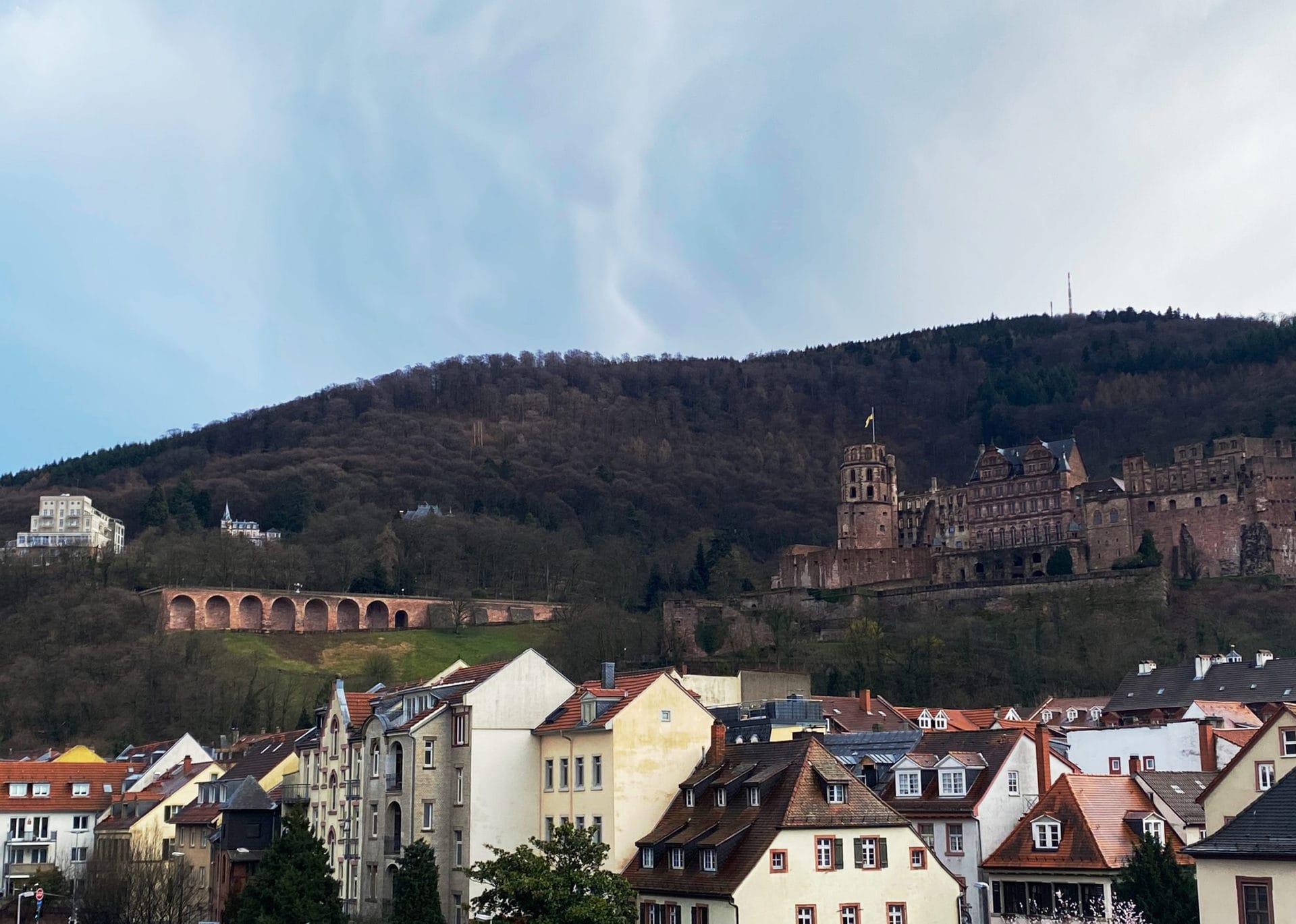 Aussicht auf Heidelberger Schloss