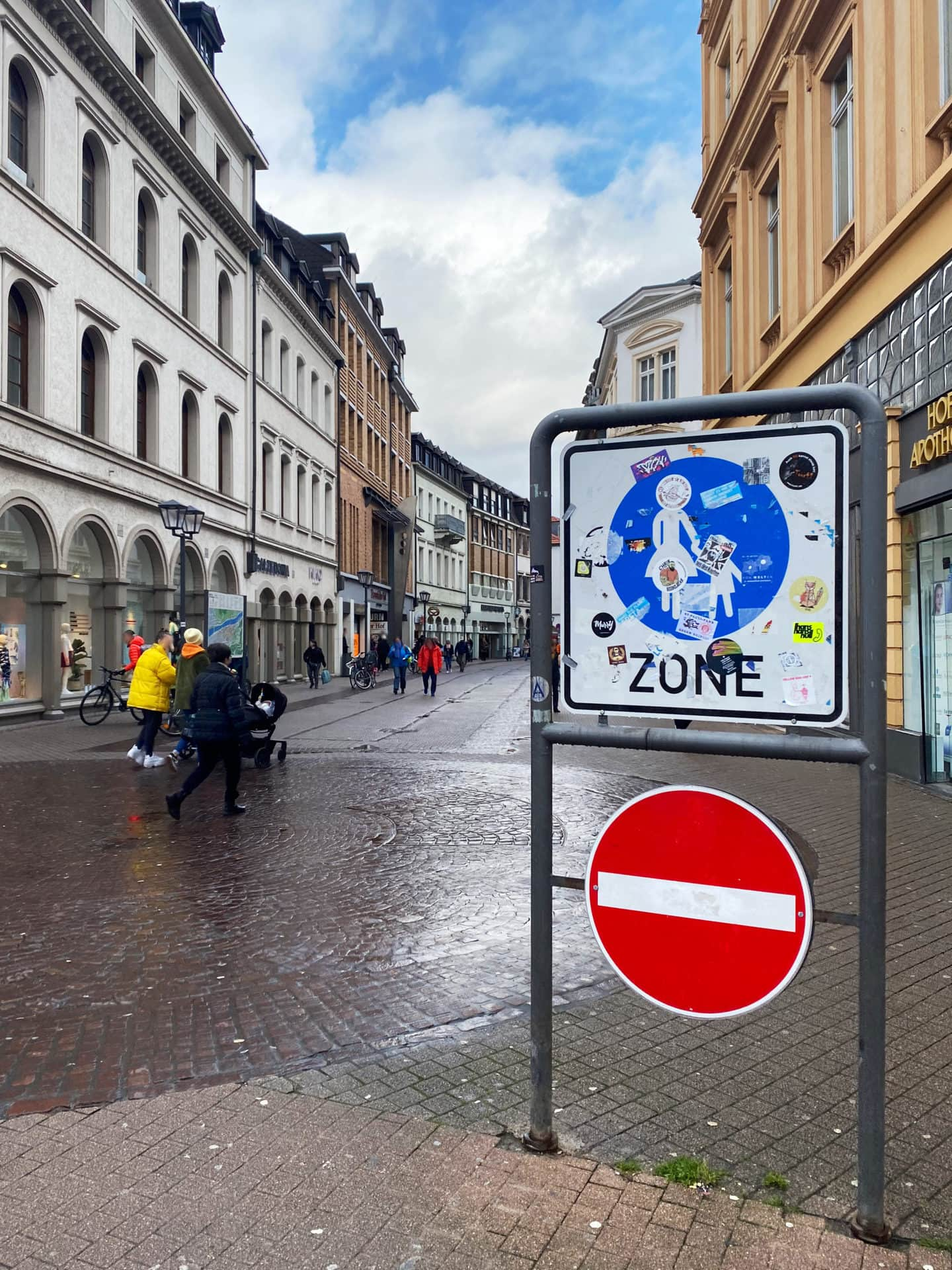 Beginn Fußgängerzone