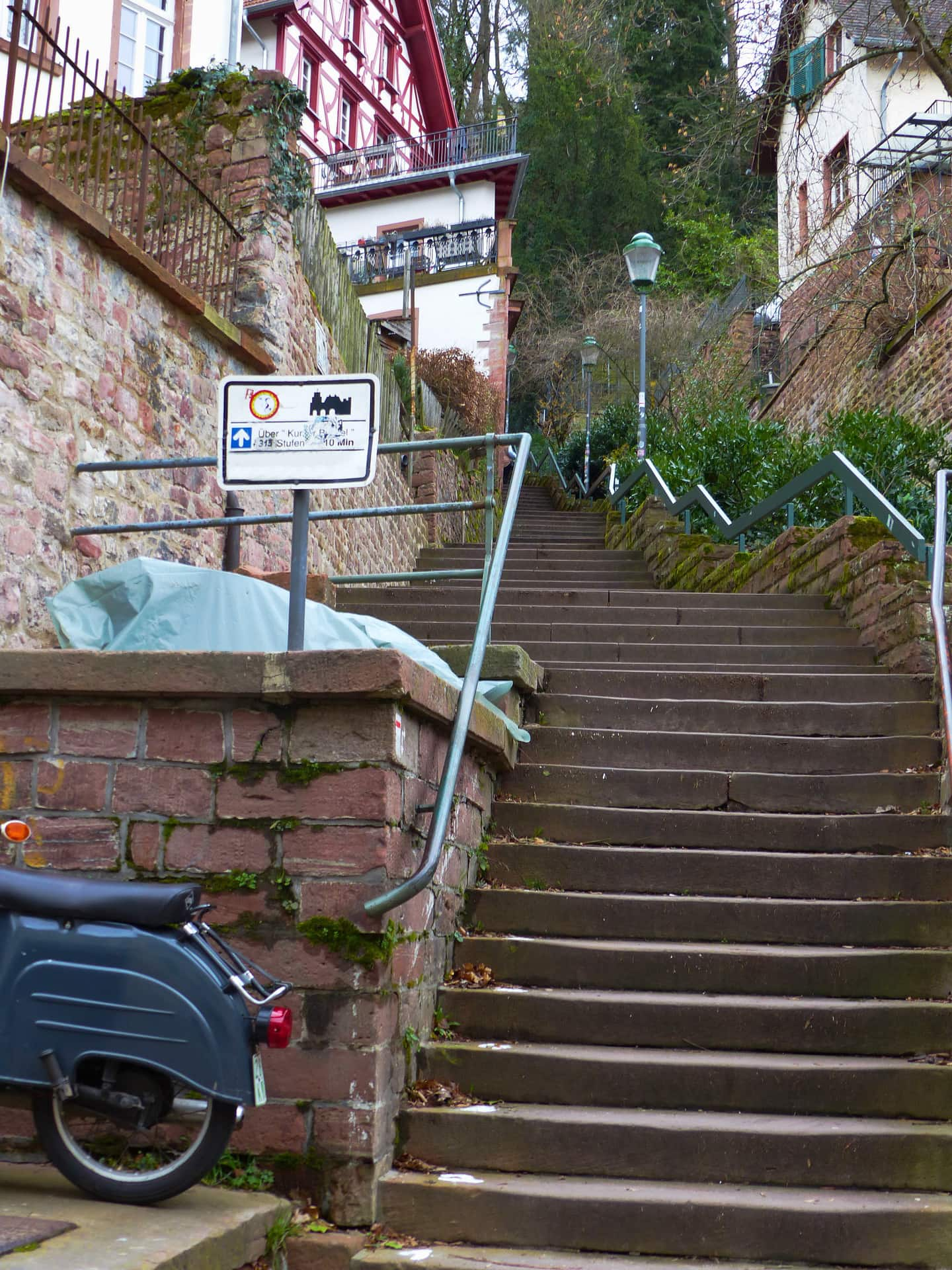 Ascent castle stairs