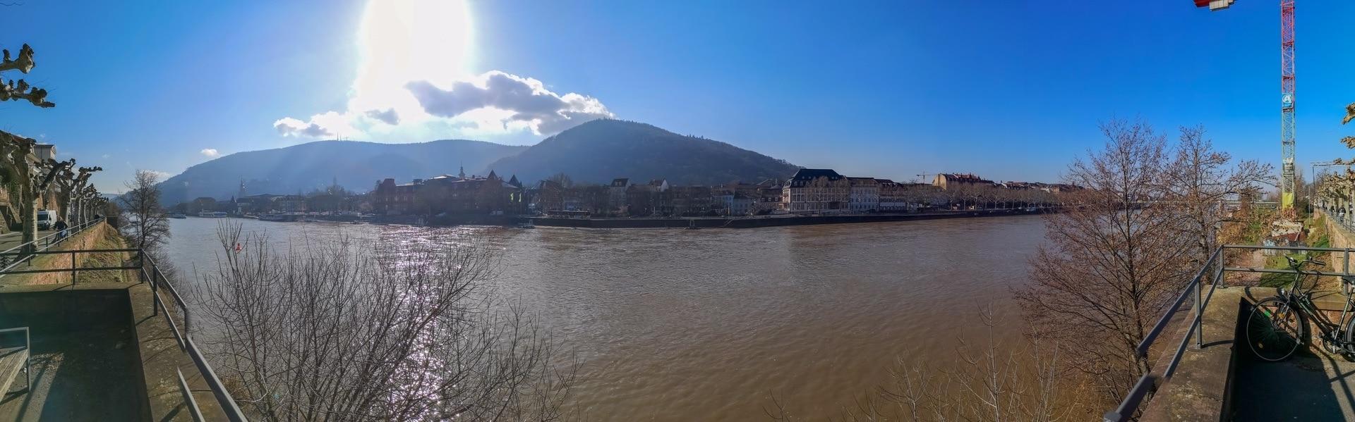 Panorama Aussicht auf die Heidelberger Altstadt von der Ziegelhäuser Landstraße