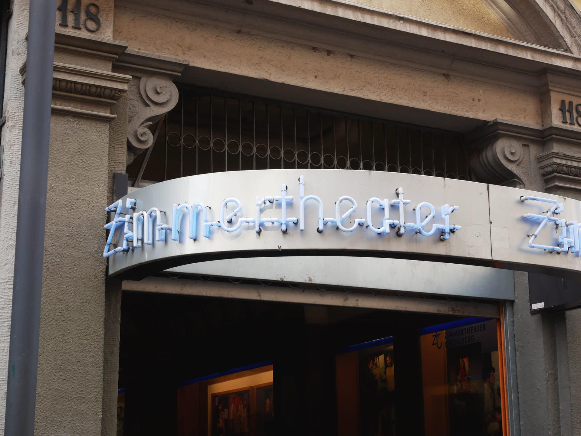 Zimmertheater Schriftzug